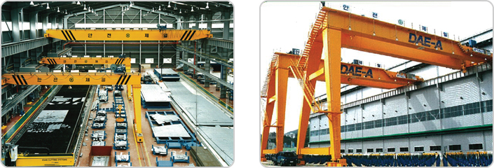 Double girder Semi Gantry hoist crane